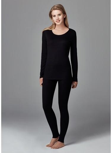 Dagi Kadın Termal Uzun Kol Üst Siyah
